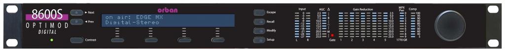 ORBAN OPTIMOD FM 8600S